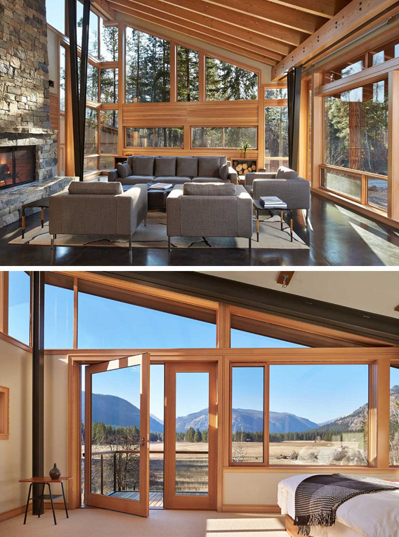 15 Awesome Examples Where Windows Follow The Roofline // The windows of this home have been designed to follow the lines and angles of the roof to maximize the amount of light enjoyed throughout the day.