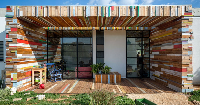 Walls Covered In Scrap Wood Make An Artistic Statement At This Home