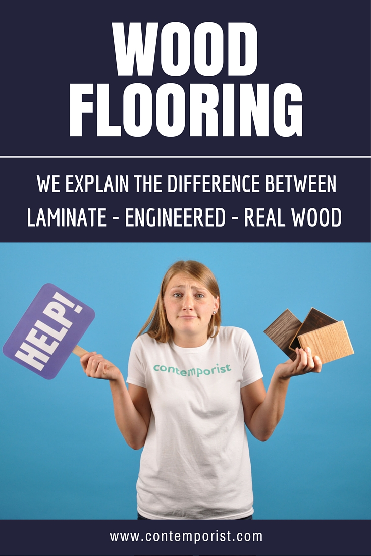 What's the difference between wood flooring? We explain the differences between laminate flooring, engineered hardwood flooring and real wood flooring.