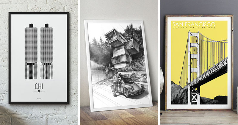 Wall Decor Idea – Create A Conversation Starter By Hanging Architectural Art Prints On Your Wall