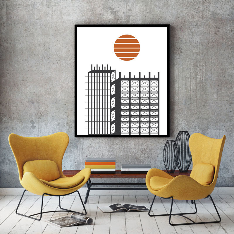 Stunning WALL DECOR IDEA Create A Conversation Starter By Hanging Architectural Art Prints On