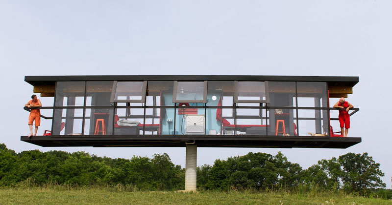 This House Built On A Single Column Can Rotate 360-Degrees