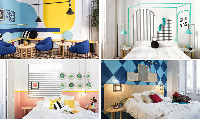Wall Decor Inspiration - Bold Graphics Cover The Walls Of This Spanish Hostel