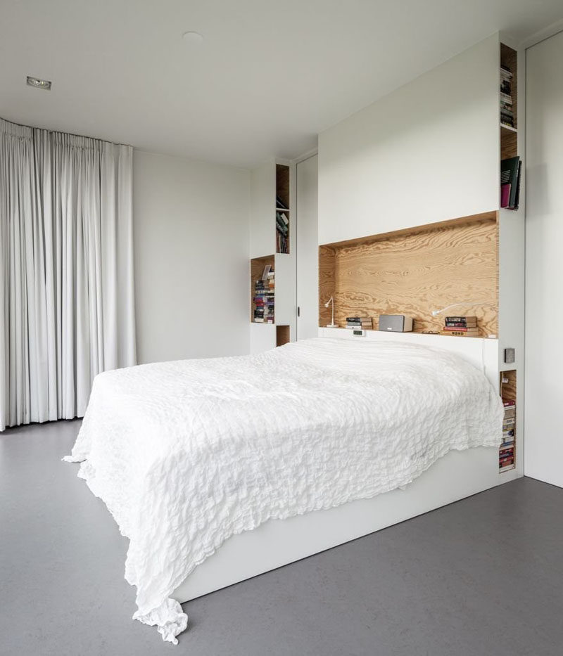 Headboard design idea include a built in shelf contemporist - Testiere letto ikea ...