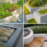 10 Excellent Examples Of Built-In Concrete Planters
