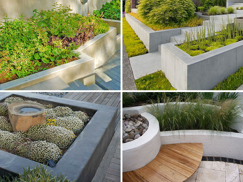 10 Excellent Examples Of Built-In Concrete Planters | CONTEMPORIST