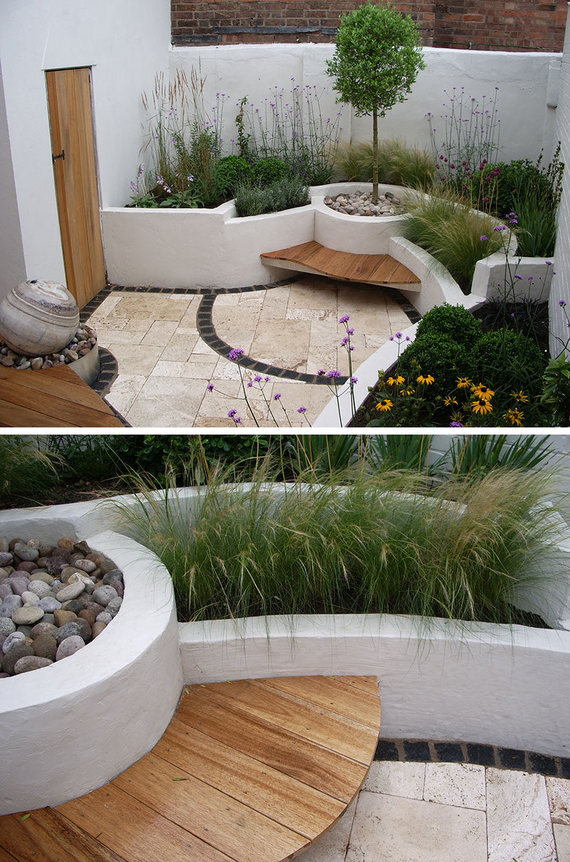 10 Excellent Examples Of Built-In Concrete Planters on Concrete Yard Ideas id=17267