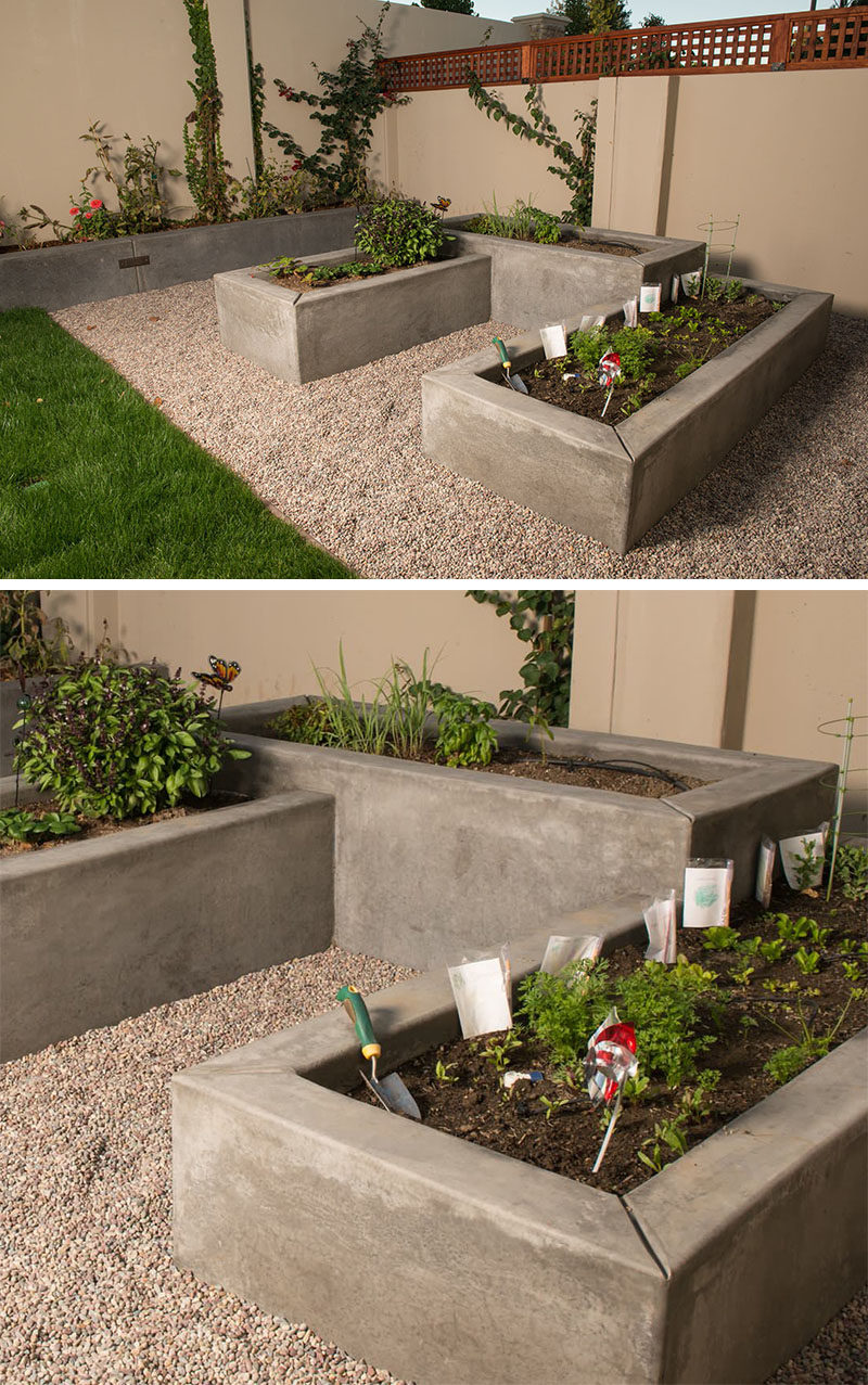 10 Excellent Examples Of Built-In Concrete Planters ... on Concrete Yard Ideas id=34332