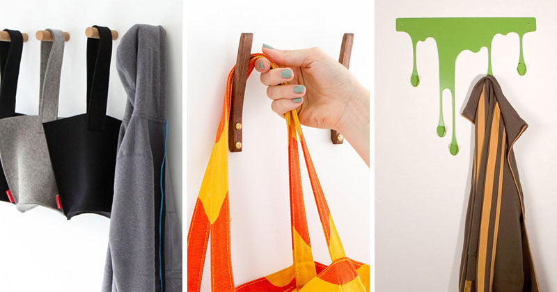 11 Creative Coat Hooks To Keep Your Clothes And Bags Off The Floor #CoatHooks #WallHook #ModernWallHook