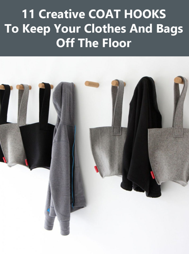 11 Creative Coat Hooks To Keep Your Clothes And Bags Off The Floor