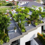 The owners of this house wanted a large garden, so they put it on the roof