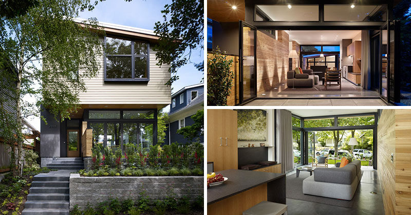 Principal architect Rik Adams, together with project team Rick Mohler and Rick Ghillino, designed this contemporary home located in Seattle's Queen Anne neighborhood, for a family that needed more space.