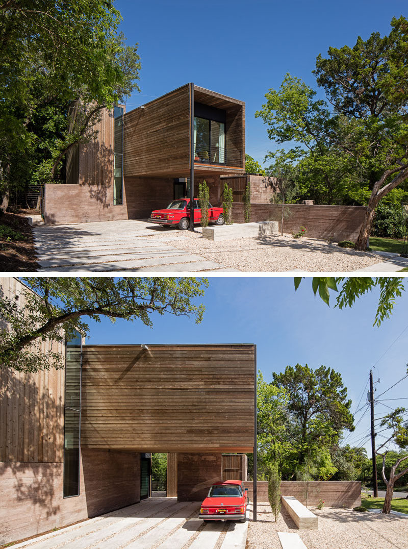A texas house designed around an inner courtyard for Concrete house texas