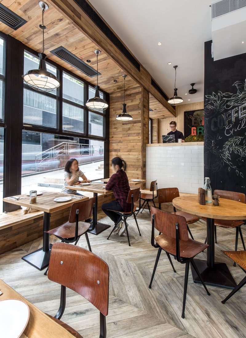 This new coffee shop in hong kong is designed to interact with the street contemporist Tables for coffee shop