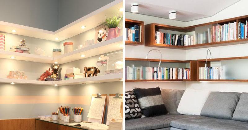 Design Ideas For Adding Corner Shelves
