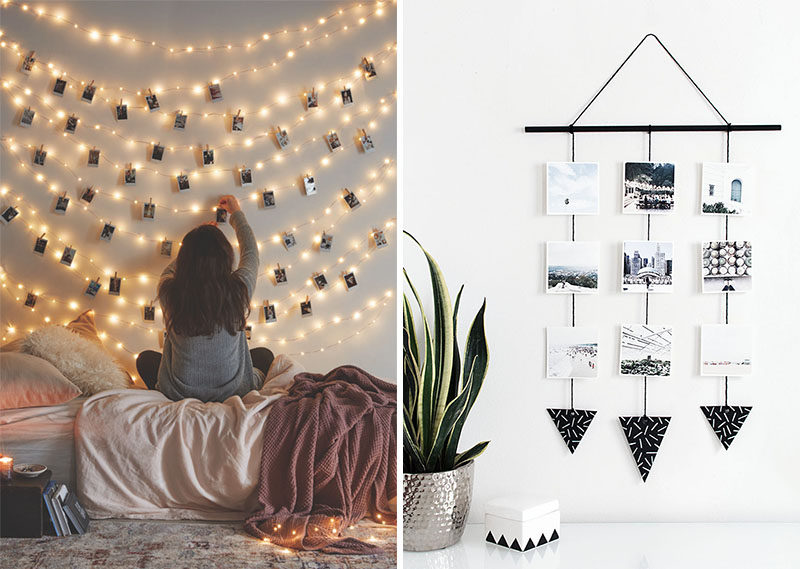 DORM ROOM Design Ideas And Must-Have Essentials // Photo Display Ideas