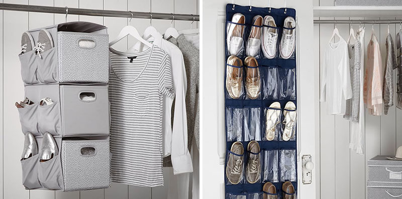DORM ROOM Design Ideas And Must-Have Essentials // Make use of your closet space with organizers.