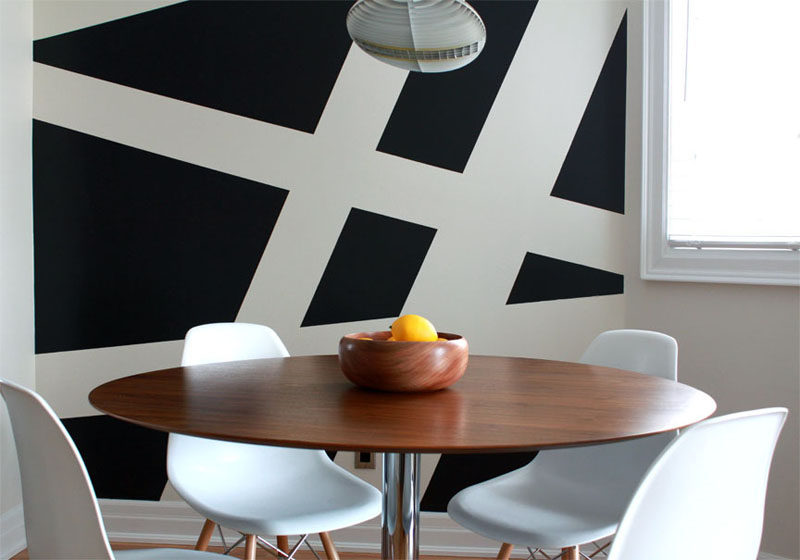 Wall Decor Idea - Create a Modern Mural Using Painters Tape