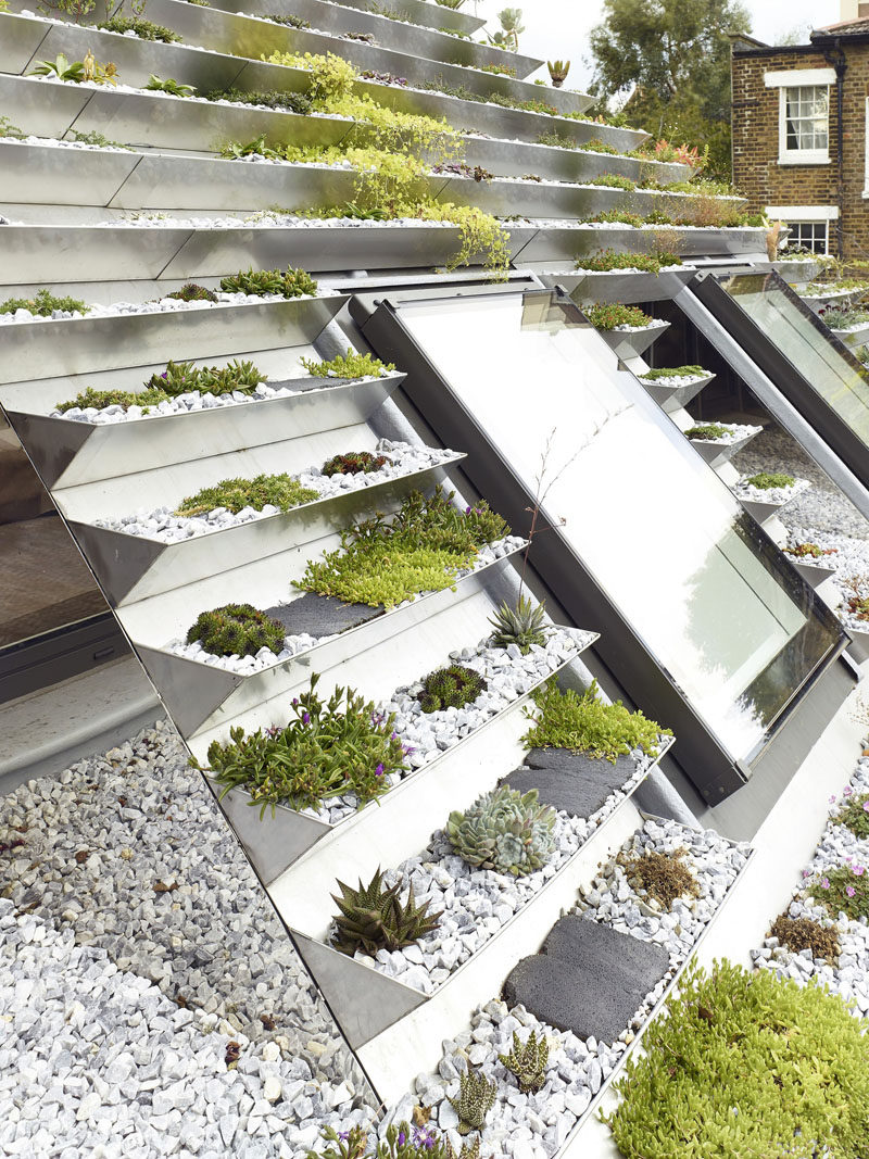 This House In London Is Covered In A Unique Terraced Green Roof