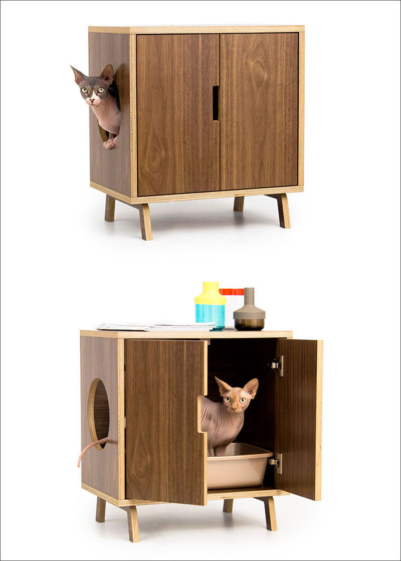 10 ideas for hiding your cat litter box contemporist - Modern kitty litter box ...