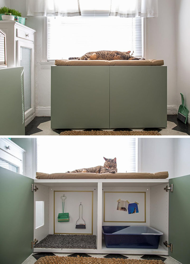 10 Ideas For Hiding Your Cats Litter Box Turn A Cabinet Into Contemporary