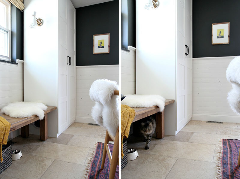 10 Ideas For Hiding Your Cats Litter Box // Transform a PAX Ikea wardrobe into a hidden litter box.