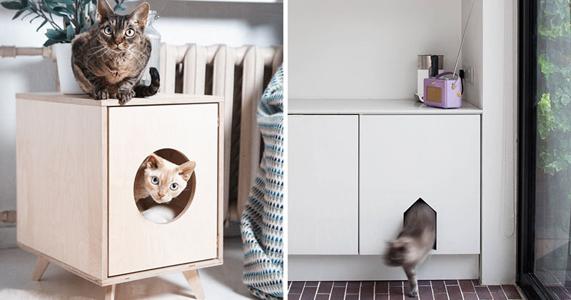 10 Ideas For Hiding Your Cat Litter Box Contemporist