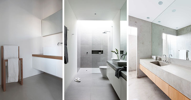 6 ideas for creating a minimalist bathroom contemporist for Minimalist house gallery
