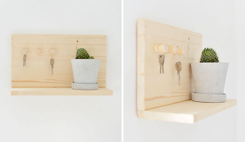16 Key Holders To Keep You Organized // Making your own design is a great way to customize your key holder to your decor.