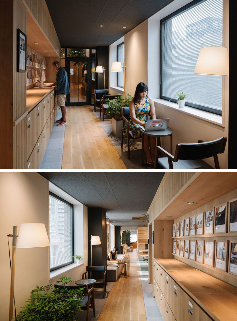 Small tucked away spaces like in this hall offer a quiet getaway while working.