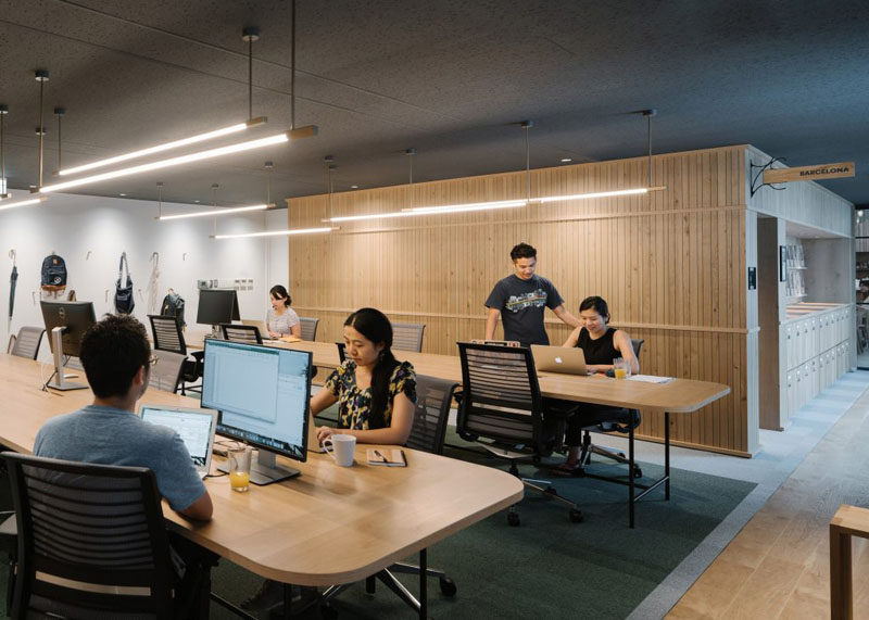 Take a look inside the new Airbnb offices in Tokyo, Japan.