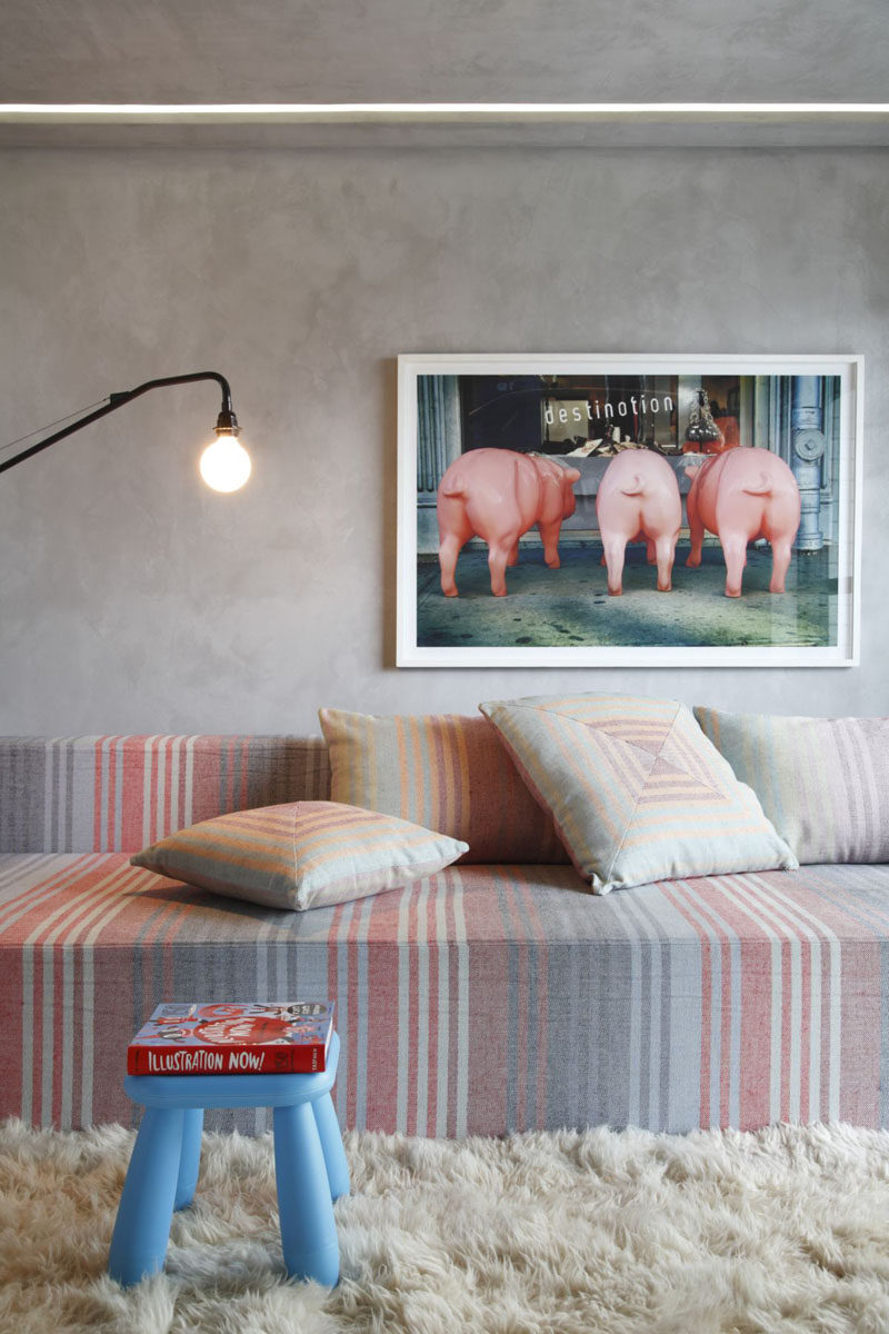 8 Ideas For Introducing Pastels Into Your Interior // Introduce Pastel Art To Your Walls --- Wall art is an excellent way to tie together all the elements in a room. Picking art that includes your pastel colors can help give the room a finished feel and can add a whimsical touch.