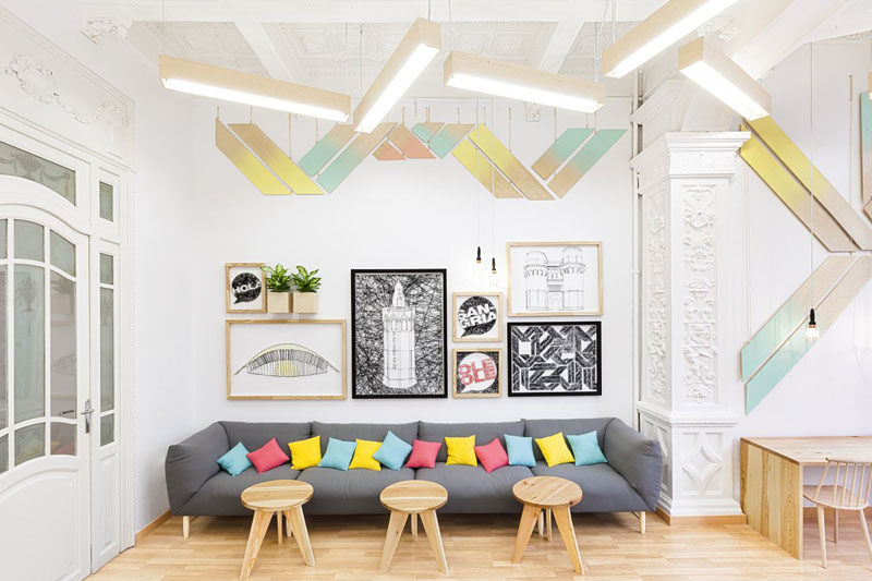 8 Ideas For Introducing Pastels Into Your Interior // Add Pastel Accessories --- If you have a neutral interior but want to bring in just a touch of color adding a few pastel throw pillows to a grey couch can cozy it up without making it feel heavy.