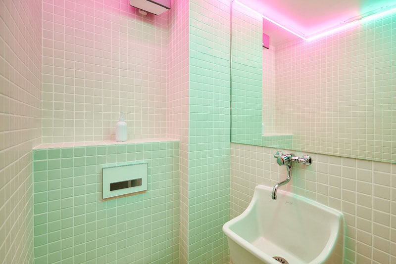 8 Ideas For Introducing Pastels Into Your Interior // Create a Pastel Gradient --- Pastels don't have to be all or nothing. Paint (or tile) your walls using a gradient technique to work in a bit of color and make the space feel taller.