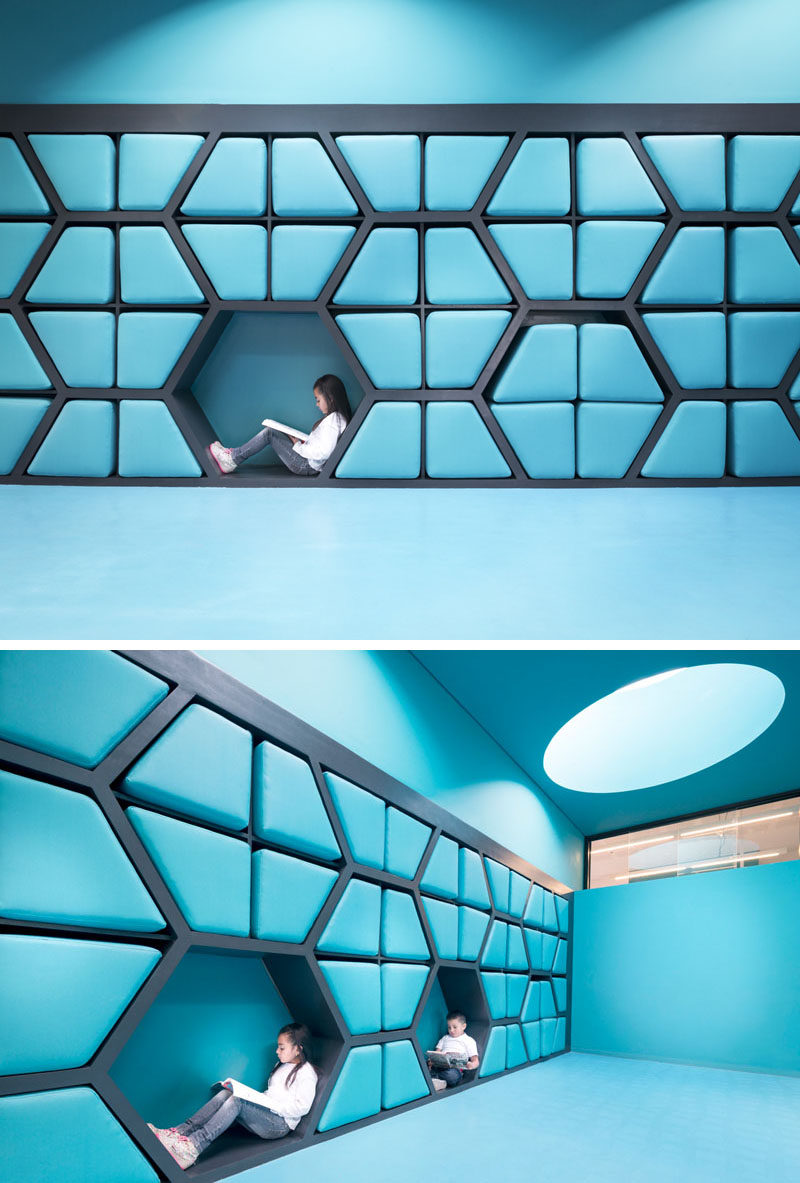 Brightly Colours Walls In This School Are Filled With Cushioned Seats And Reading Nooks