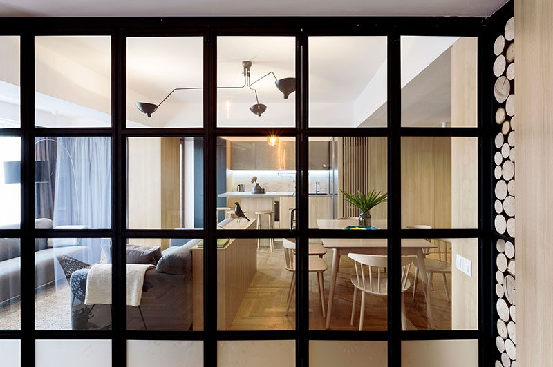 Apartment Interior Design Idea - Build A Small Wall As A Room Divider