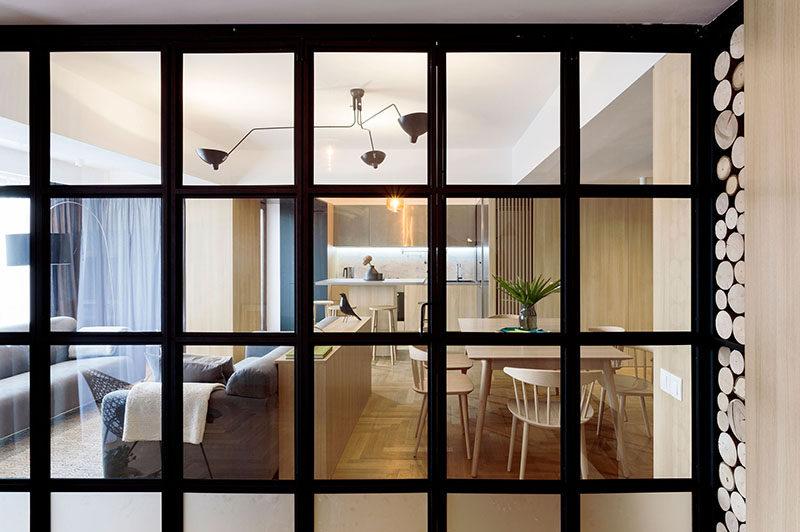 apartment interior design idea build a small wall as a