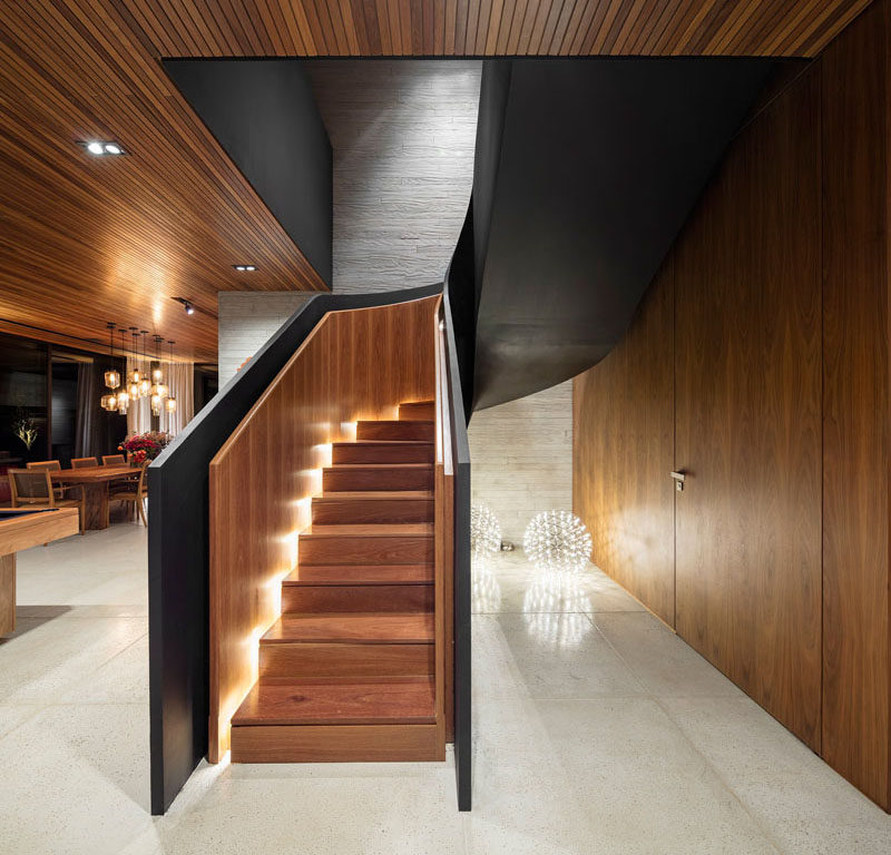 Stair Design Idea – Include Hidden Lights To Guide You At Night