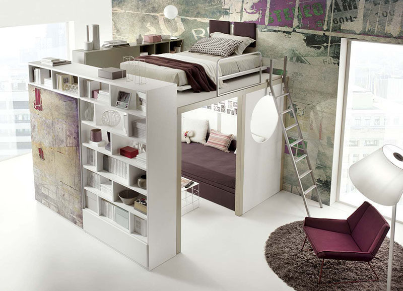 14 Inspirational Bedroom Ideas For Teenagers // This Loft Bed By Tumidei Is  Every Teens