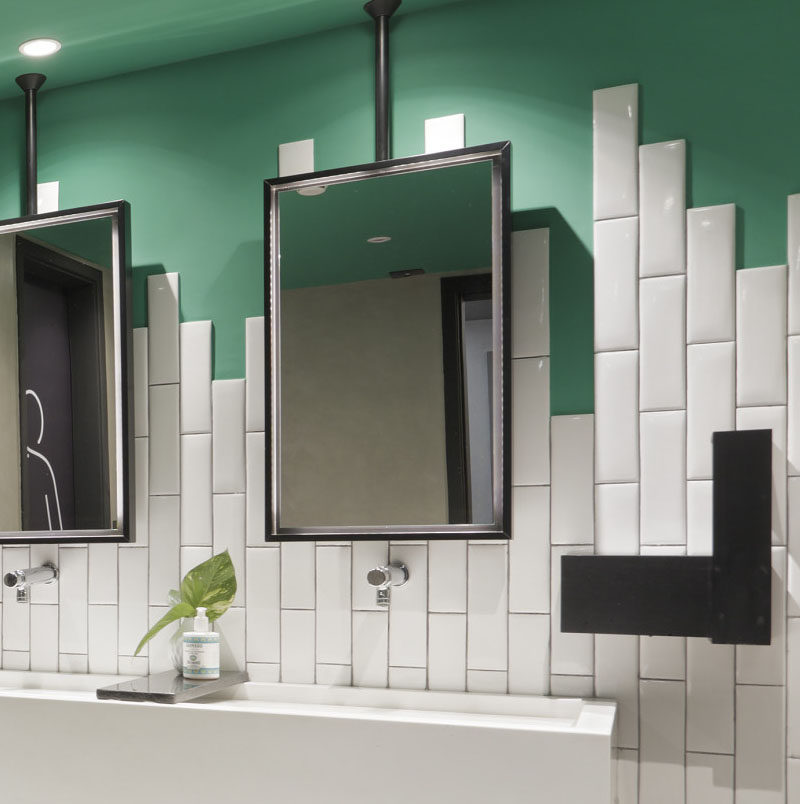 Bathroom tiles straight or staggered with unique pictures for Bathroom design questions