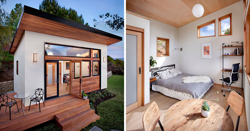 This small backyard guest house is big on ideas for Home ideas for small houses