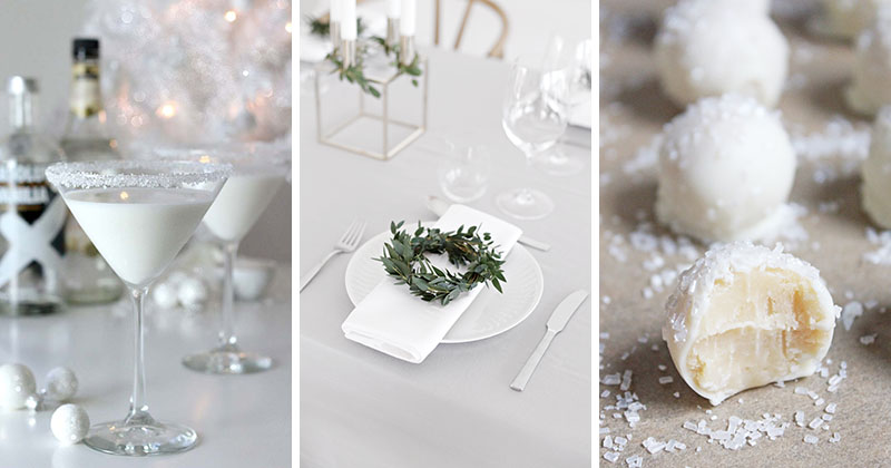 Throw an all white party with these ideas for food and
