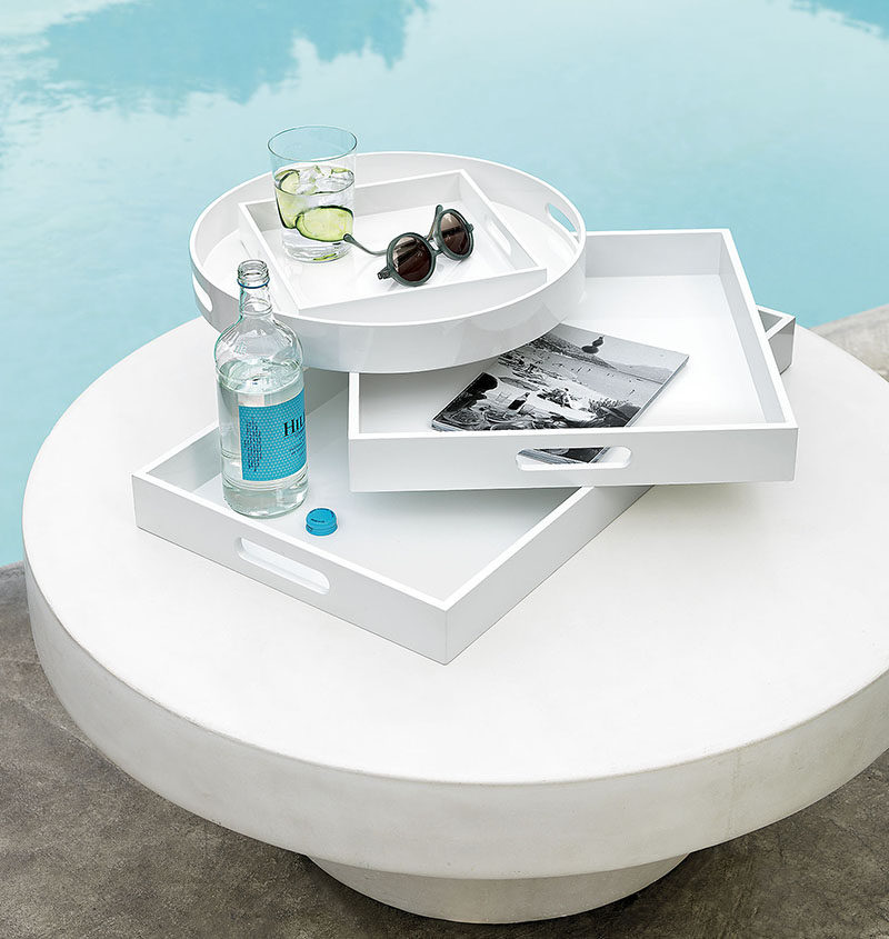 Throw An All White Party With These Ideas For Food And Decorations / Use white serving trays to serve your drinks on.