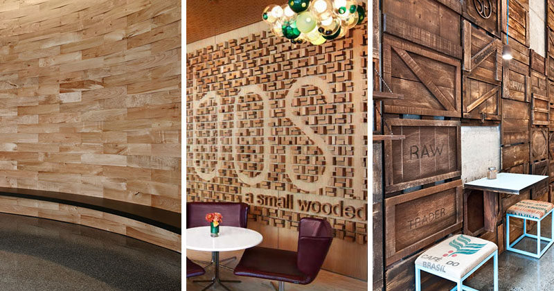Accent Wall Ideas - 12 Different Ways To Cover Your Walls In Wood  #AccentWall #FeatureWall #WoodAccentWall #WoodFeatureWall #InteriorDesign