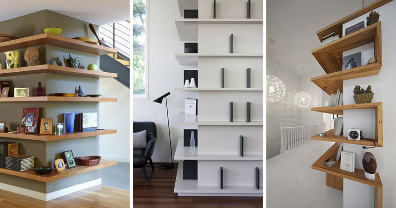 Shelving Design Idea – Shelves That Wrap Around Corners