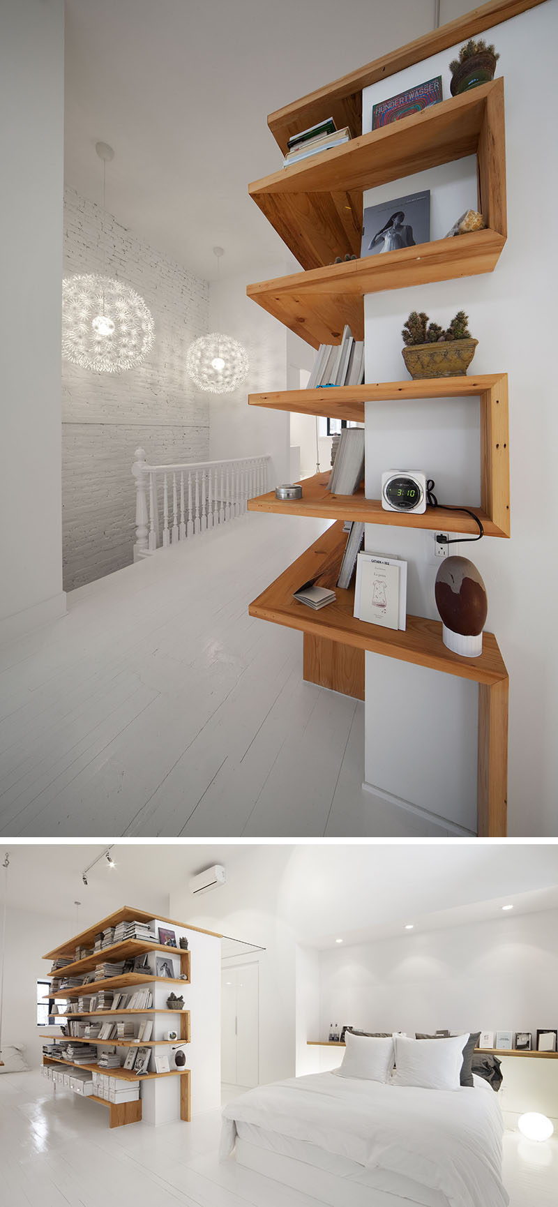 Shelving design idea shelves that wrap around corners for House shelves designs