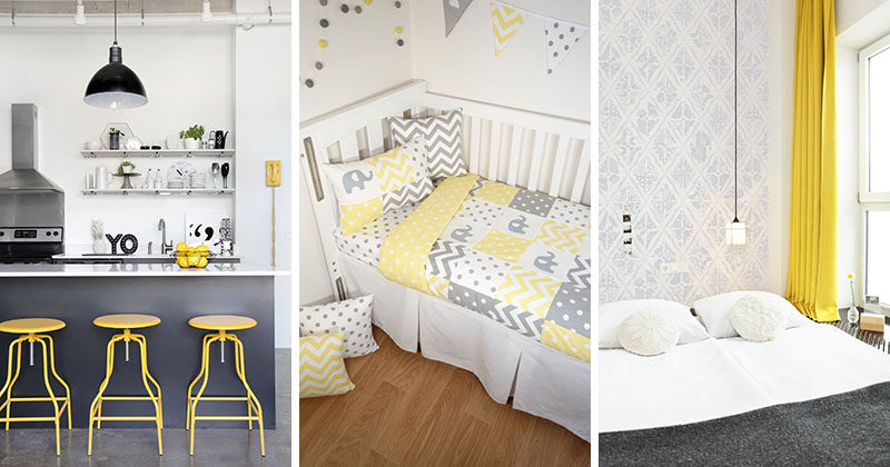 Palette Profile Yellow Gray And White Interiors