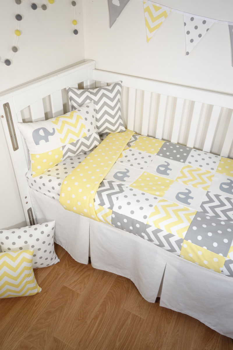 Palette Profile - Yellow, Gray and White Interiors // Yellow and gray are gender neutral colors, perfect for decorating a nursery or child's bedroom.