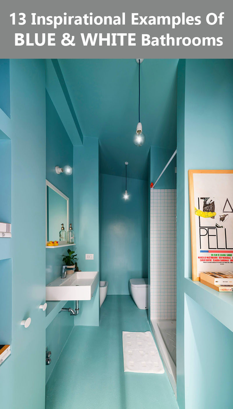 13 Inspirational Examples Of Blue And White Bathrooms. 13 Inspirational Examples Of Blue And White Bathrooms   CONTEMPORIST