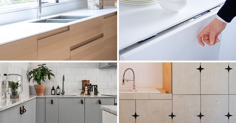 Kitchen Design Idea ? Cabinet Hardware Alternatives